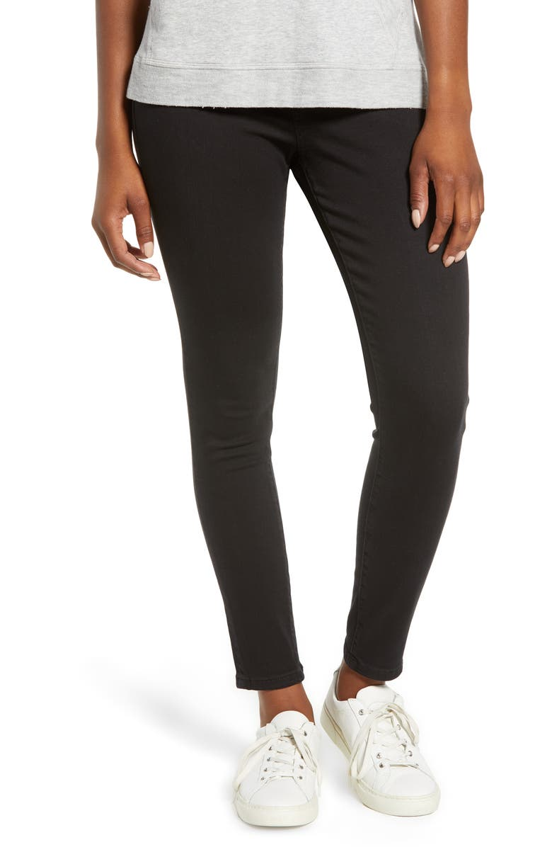 JAG JEANS Marla Stretch Denim Leggings, Main, color, BLACK