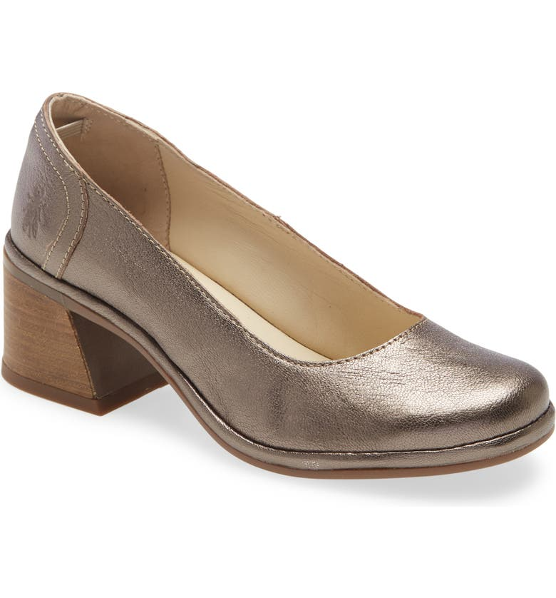 FLY LONDON Luno Pump, Main, color, BRONZE IDRA LEATHER