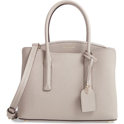 Kate Spade New York Medium Margaux Leather Satchel - Grey
