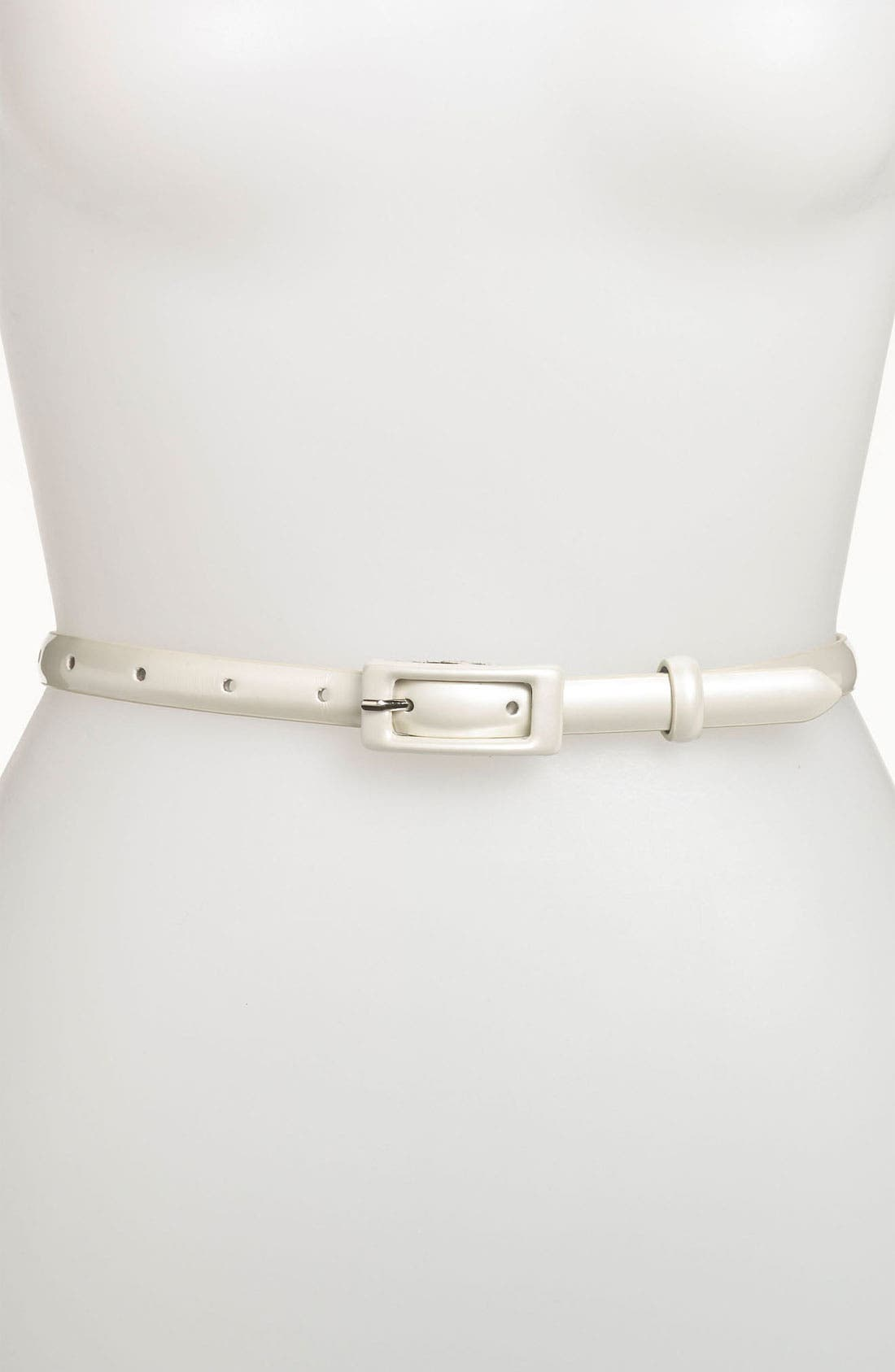 ,                             'Updated' Skinny Patent Belt,                             Main thumbnail 7, color,                             101