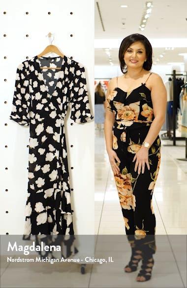 Delana Caro Print Wrap Dress, sales video thumbnail