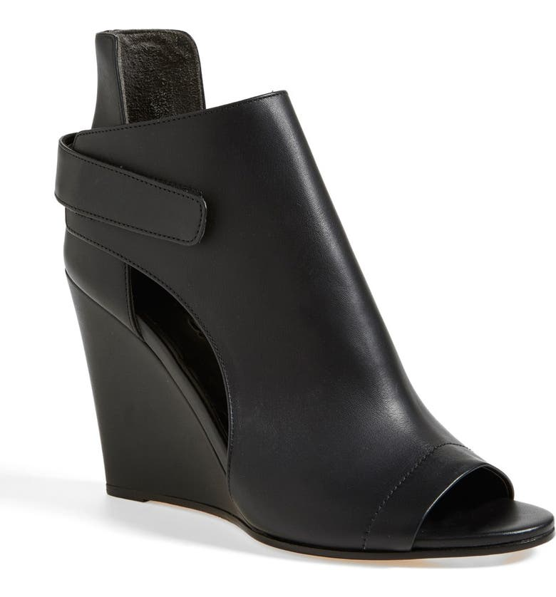 VINCE 'Katia' Leather Wedge Bootie, Main, color, 001