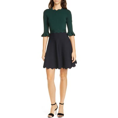 Ted Baker London Lauron Fit & Flare Sweater Dress