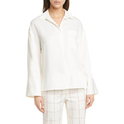 Club Monaco Popover Pocket Shirt, Ivory