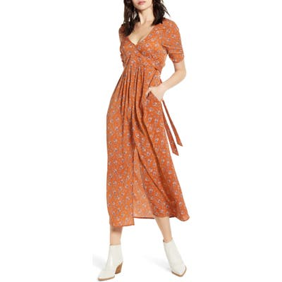 Lira Clothing Preston Floral Midi Dress, Brown