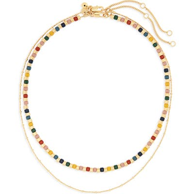 Madewell Acrylic Beaded Necklace Set