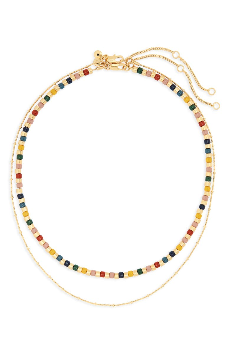 MADEWELL Acrylic Beaded Necklace Set, Main, color, MAPLE GLOW MULTI