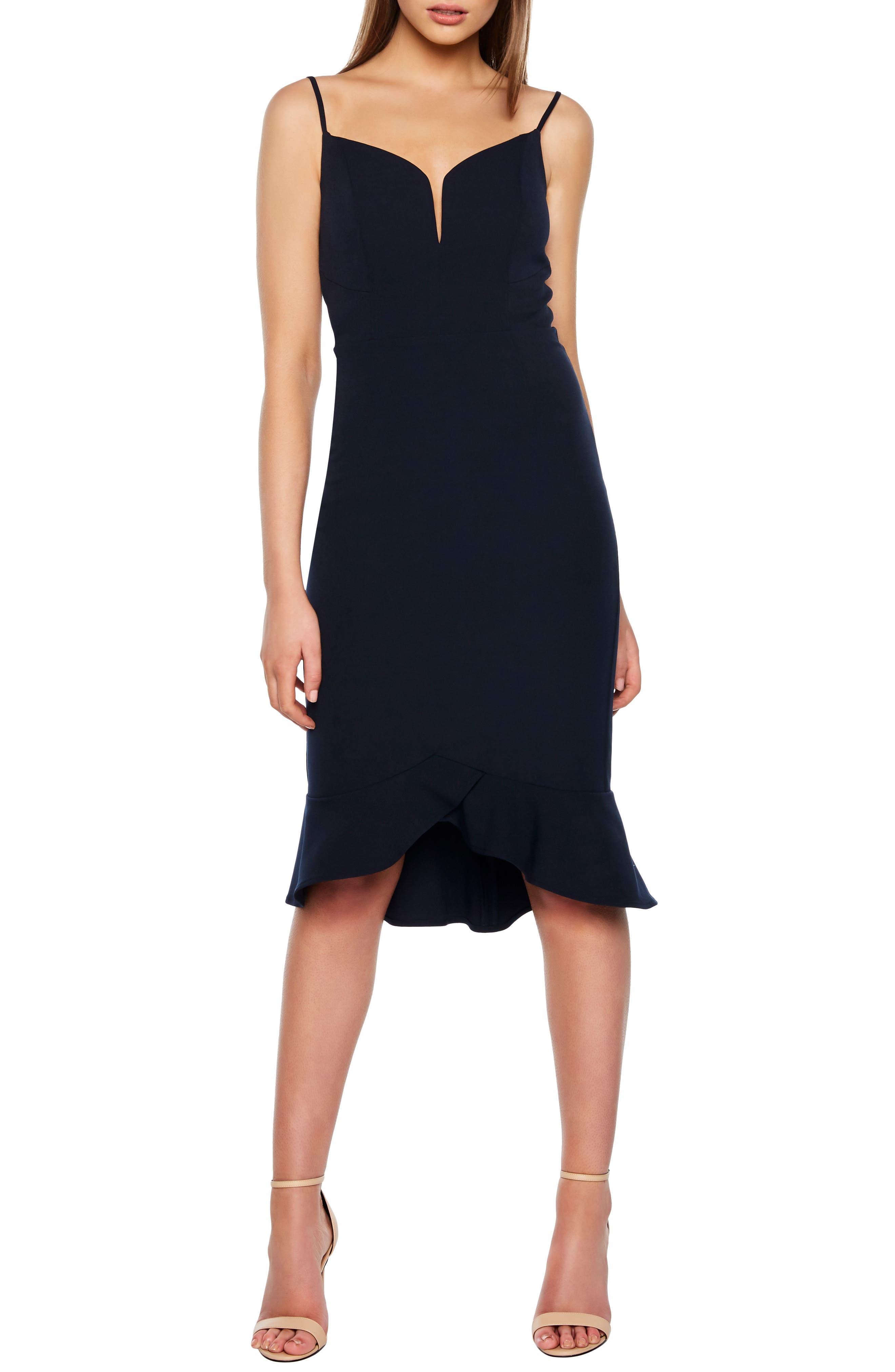 Bardot Kristen Flounce Dress, Blue