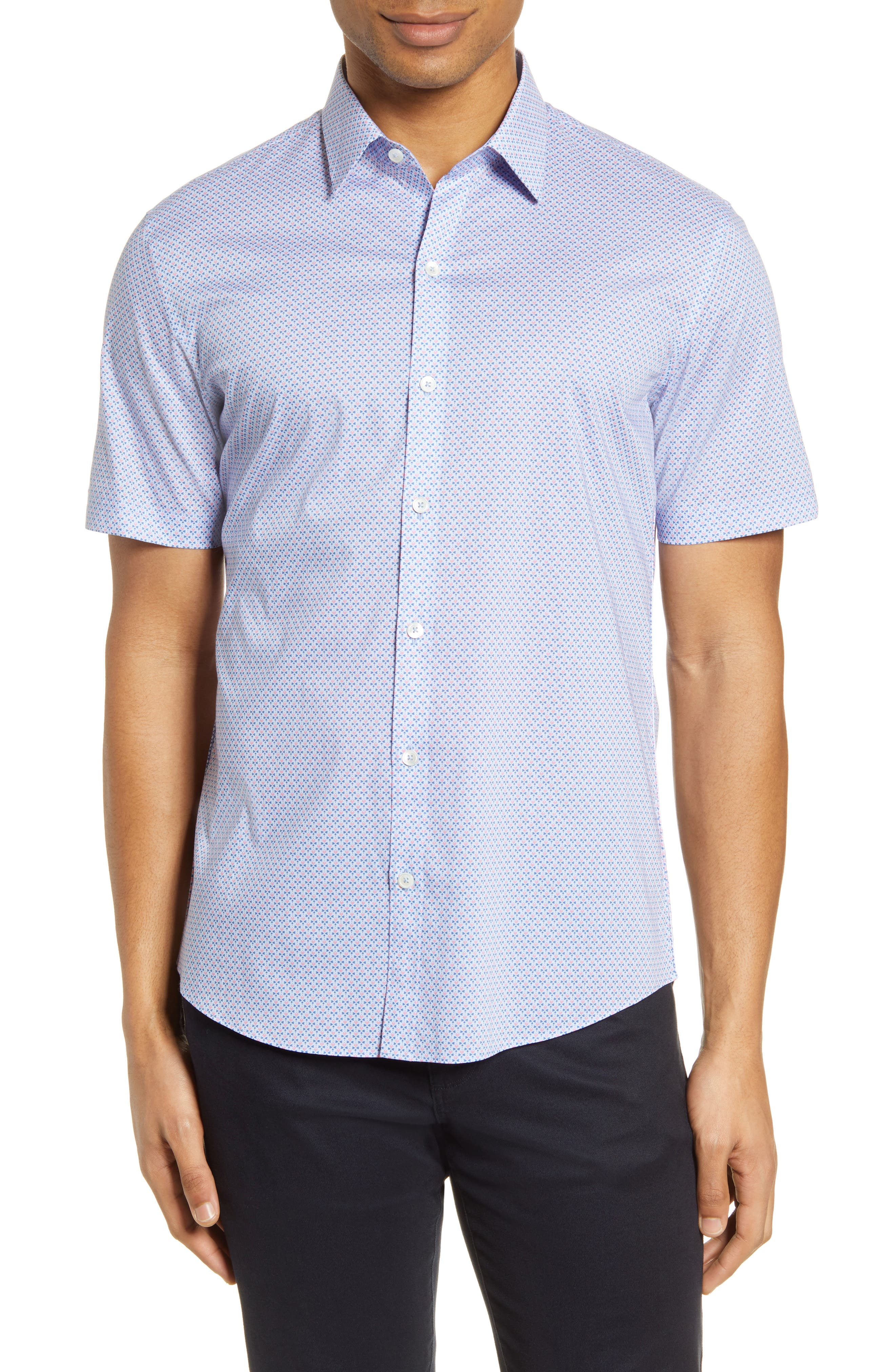 Zachary Prell Dinwiddie Classic Fit Short Sleeve Button Up Shirt Nordstrom Rack