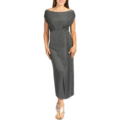 Savi Mom Hana Maxi Maternity/nursing Dress, Grey
