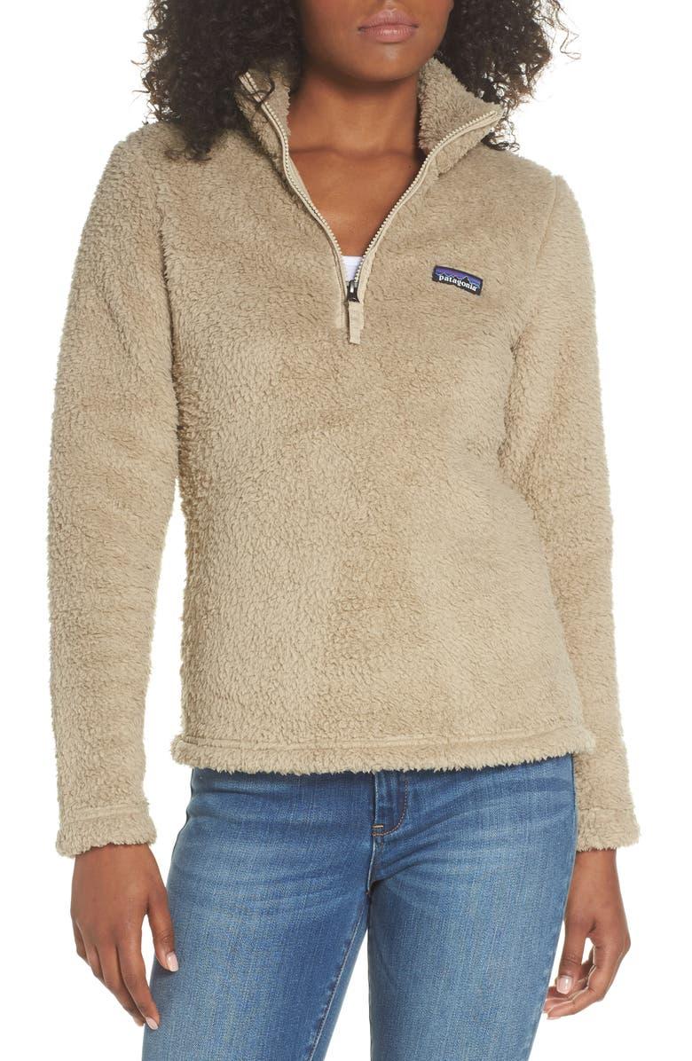 PATAGONIA Los Gatos Fleece Pullover, Main, color, EL CAP KHAKI
