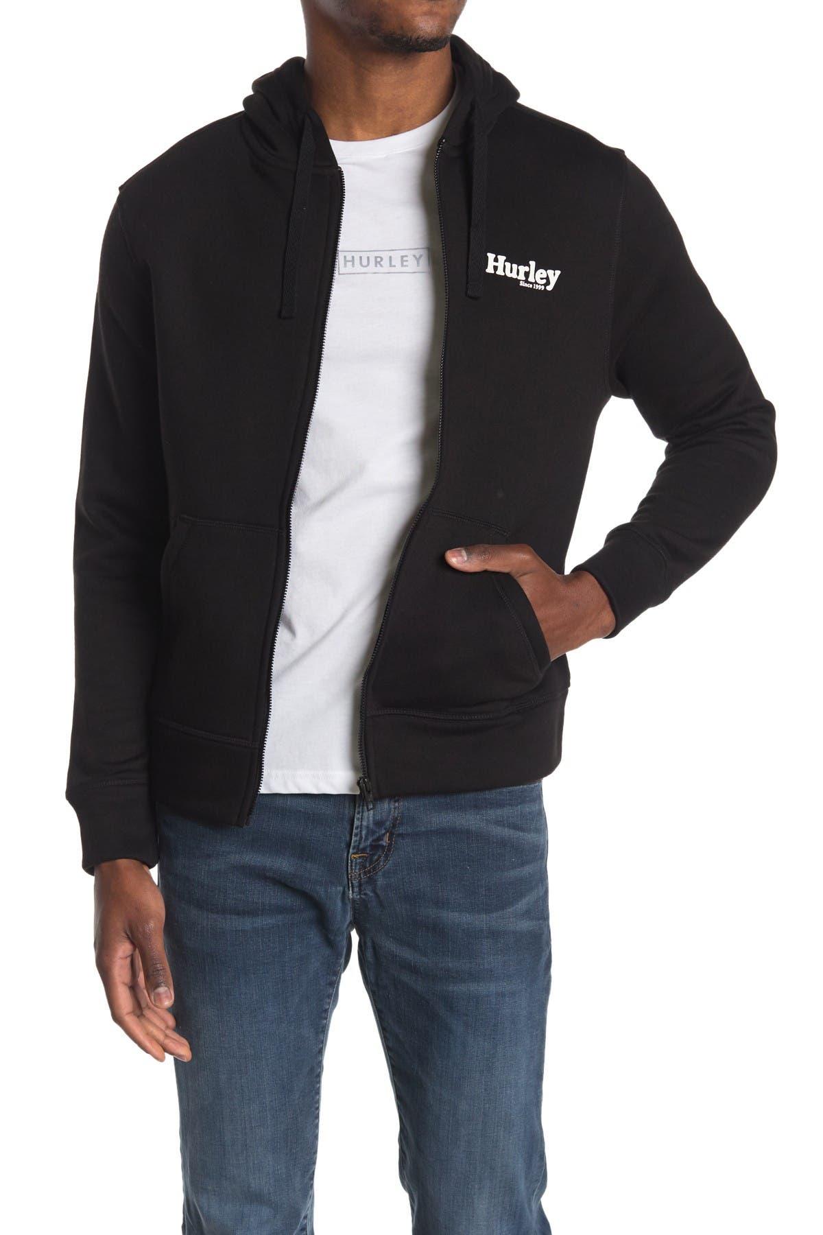 Image of Hurley Logo Fleece Zip Hoodie