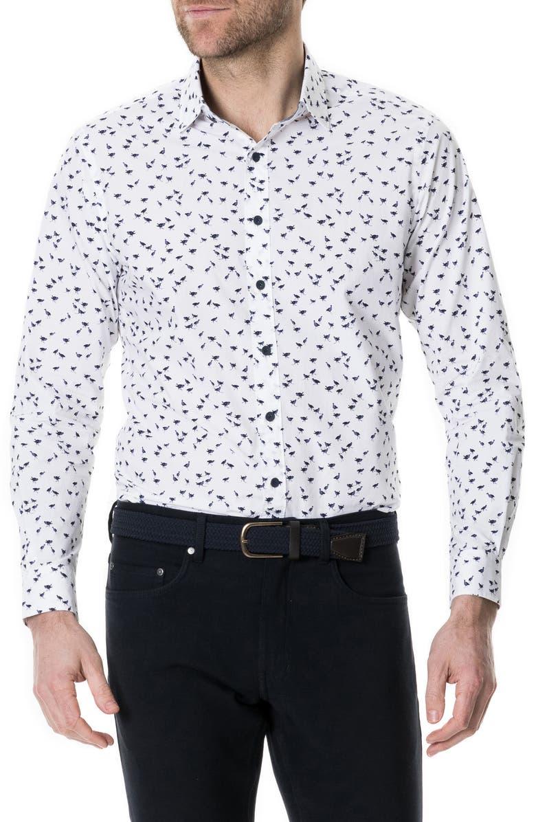 RODD & GUNN Pinewood Regular Fit Print Shirt, Main, color, 111