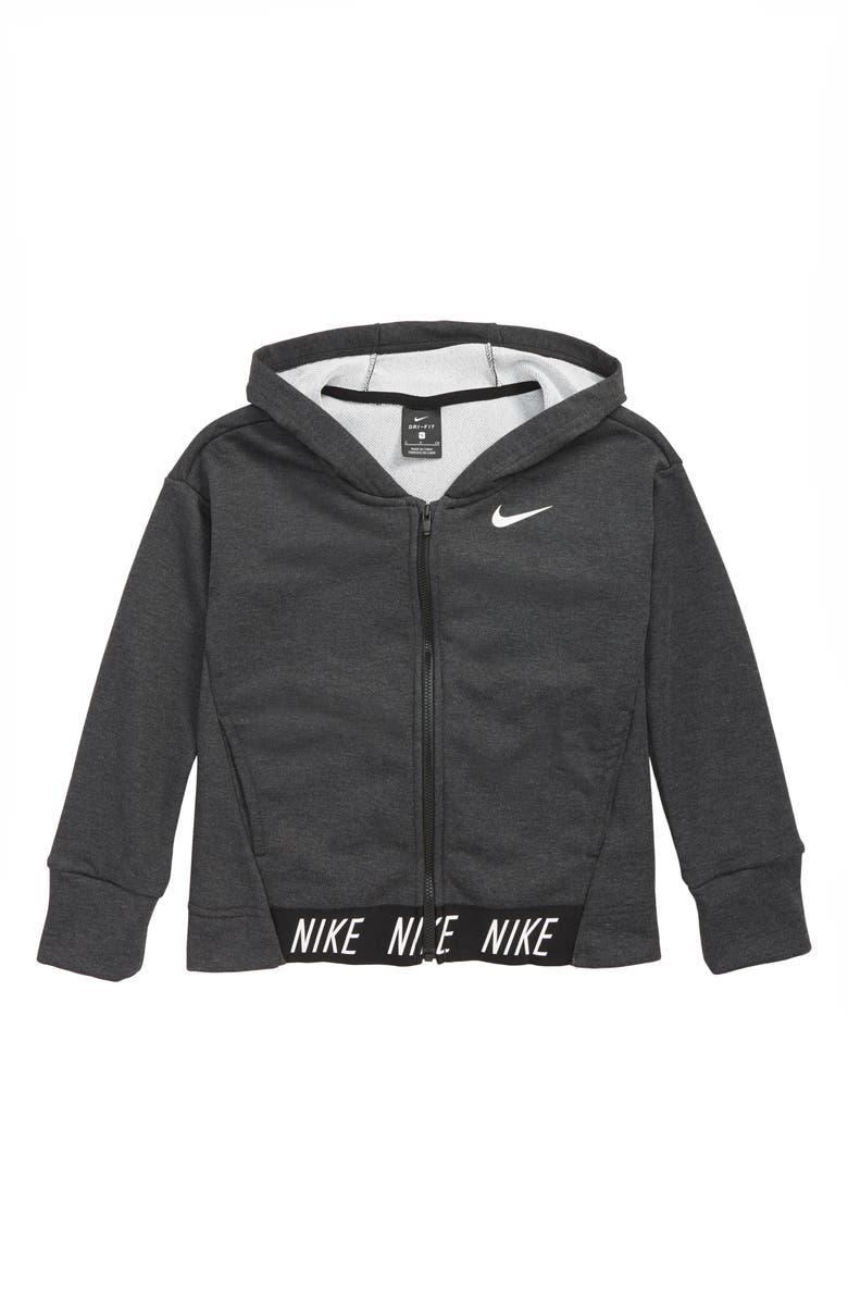 6e78b412a Nike Dry Full Zip Hoodie (Big Girls) | Nordstrom