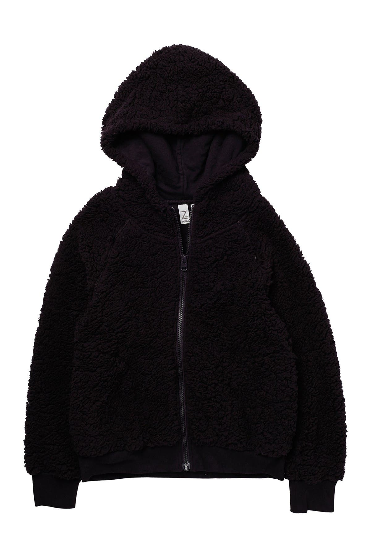 Image of Z by Zella Girl Up & Over Faux Shearling Bomber
