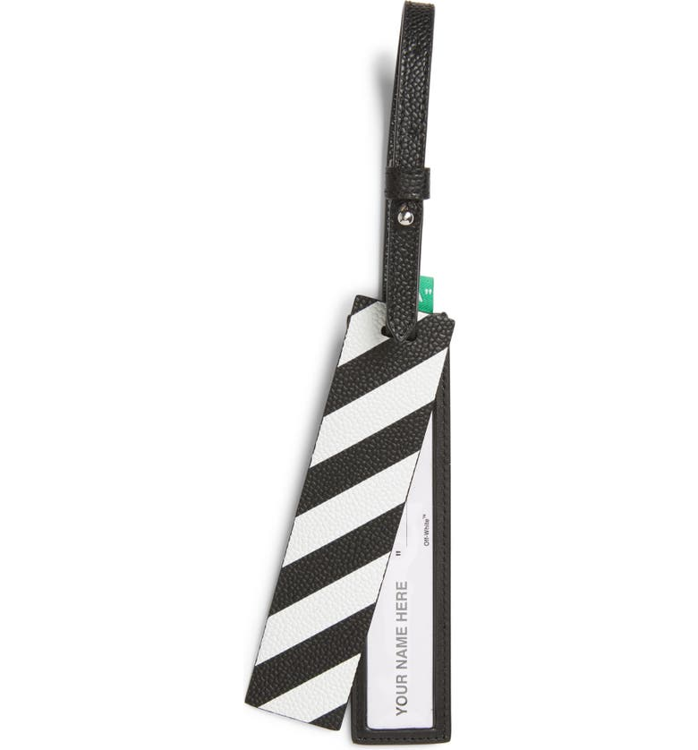 OFF-WHITE Quote Luggage Tag, Main, color, 001