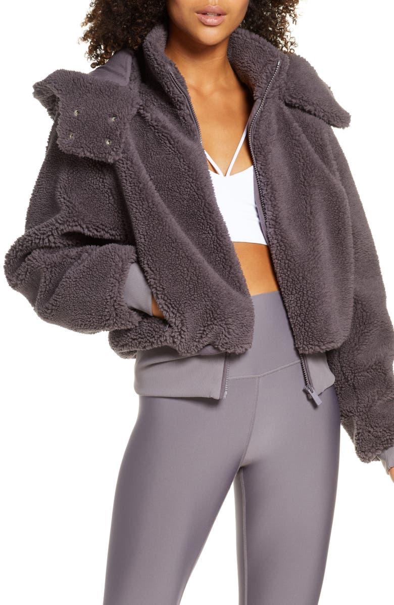 5cbce8b47 Foxy Faux Fur Jacket, Main, color, DARK LAVENDER
