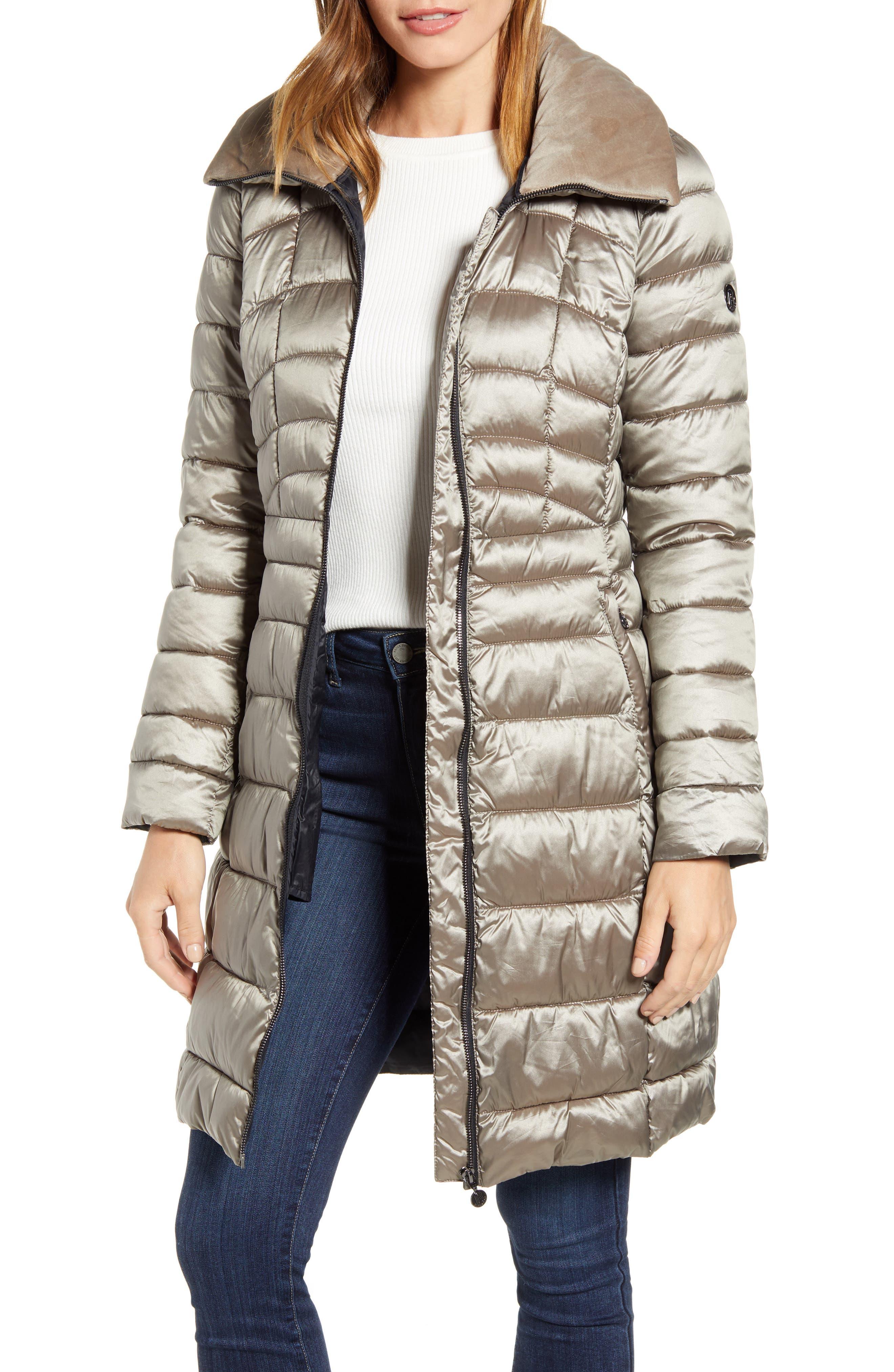 Bernardo Water Resistant Packable Puffer Coat
