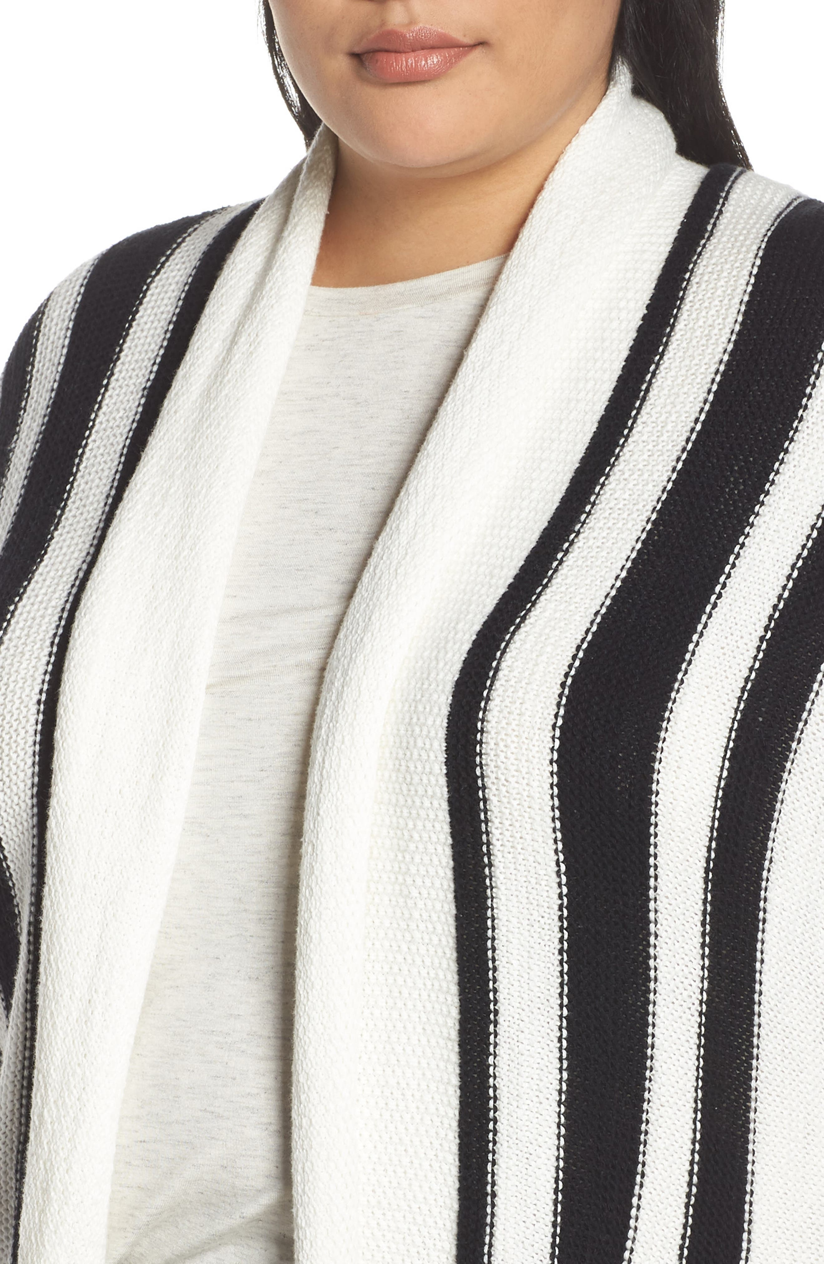 ,                             Stripe Open Front Cardigan,                             Alternate thumbnail 10, color,                             900