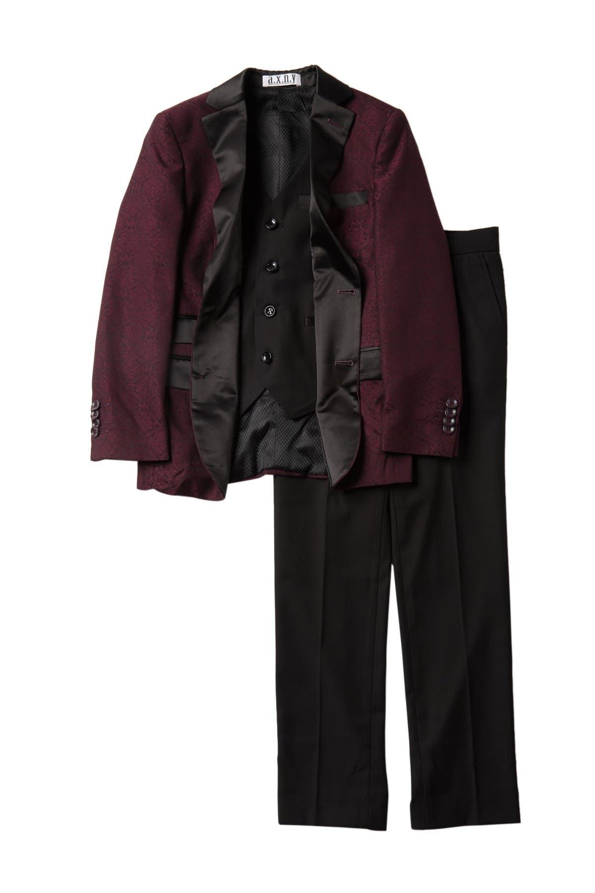 Image of Isaac Mizrahi 3-Piece Satin Lapel Suit