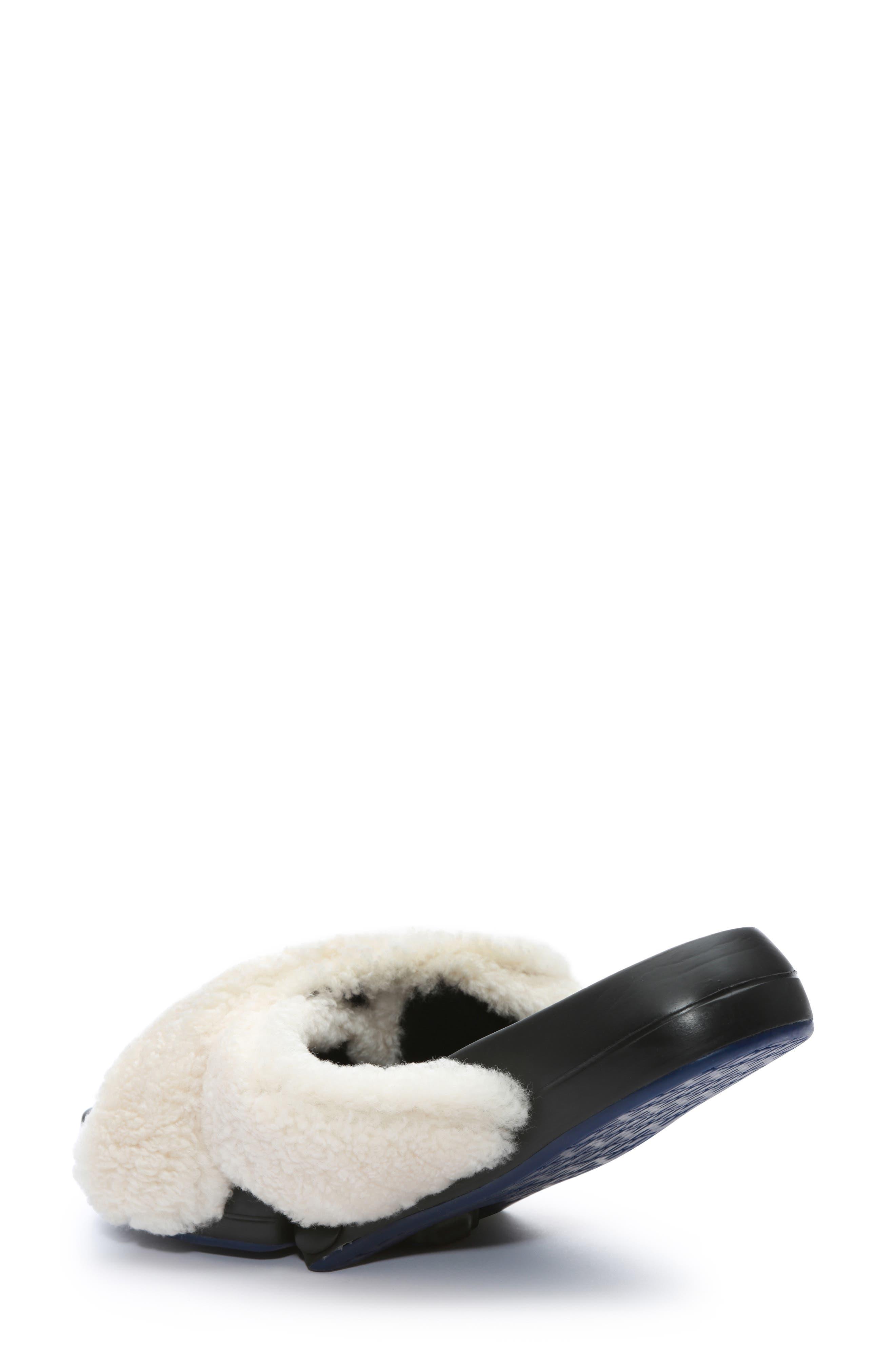 ,                             Figomatic Genuine Shearling Slide Sandal,                             Alternate thumbnail 2, color,                             NUDE SHEARLING