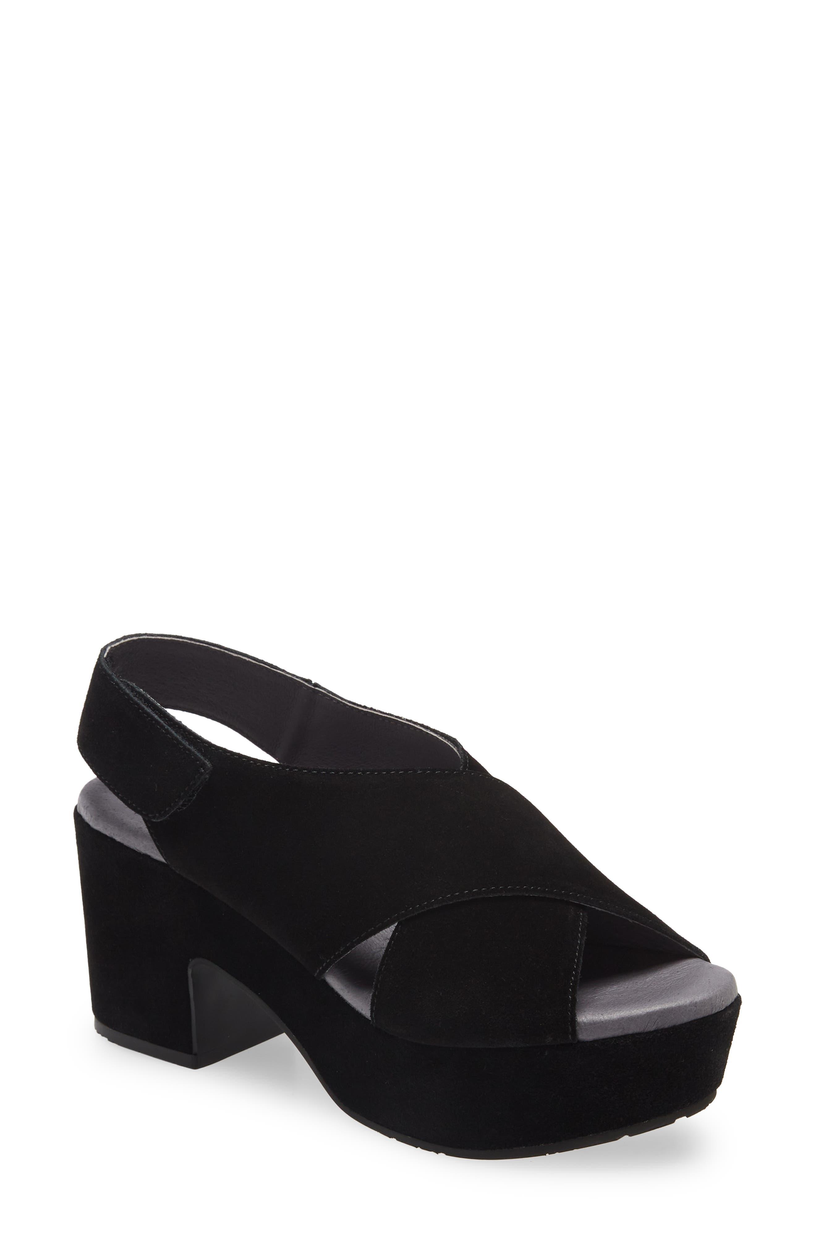 Crisscross Platform Slingback Sandal