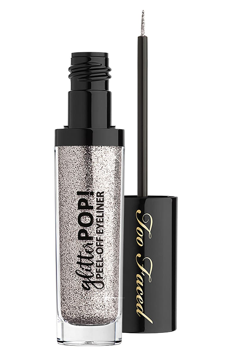 TOO FACED Glitter Pop! Peel-Off Eyeliner, Main, color, 001