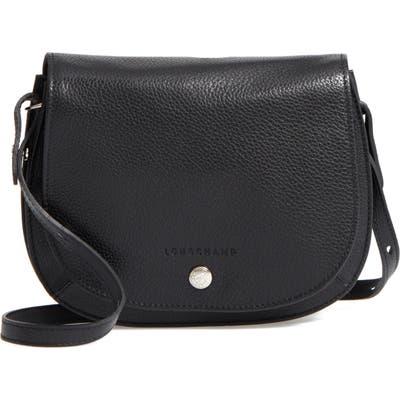 Longchamp Small Le Foulonne Leather Crossbody Bag - Black