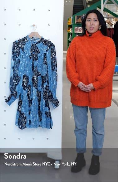 Emmeline Long Sleeve Silk Blend Minidress, sales video thumbnail