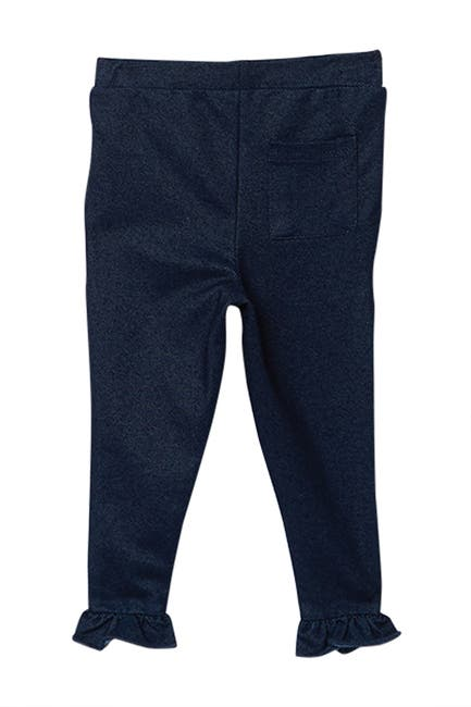 Image of Sovereign Code Sav Anna Star Print Top & Knit Denim Leggings 2-Piece Set