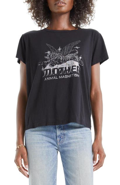 MOTHER THE BOXY GOODIE GOODIE SUPIMA COTTON TEE