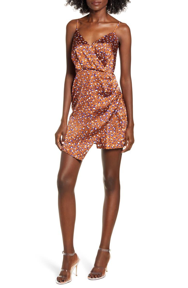 J.O.A. Faux Wrap Minidress, Main, color, 200