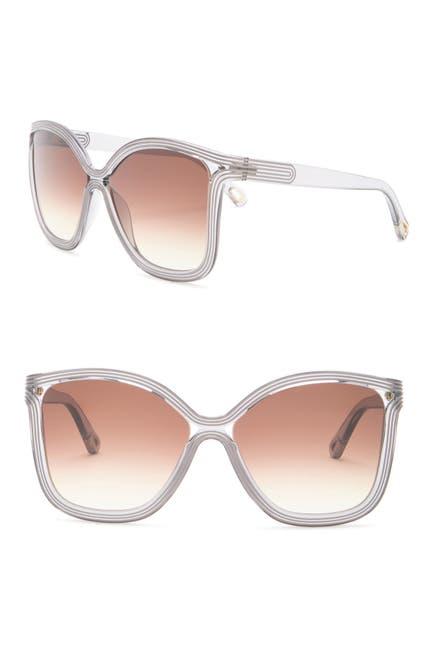 Image of Chloe 58mm Modified Square Sunglasses