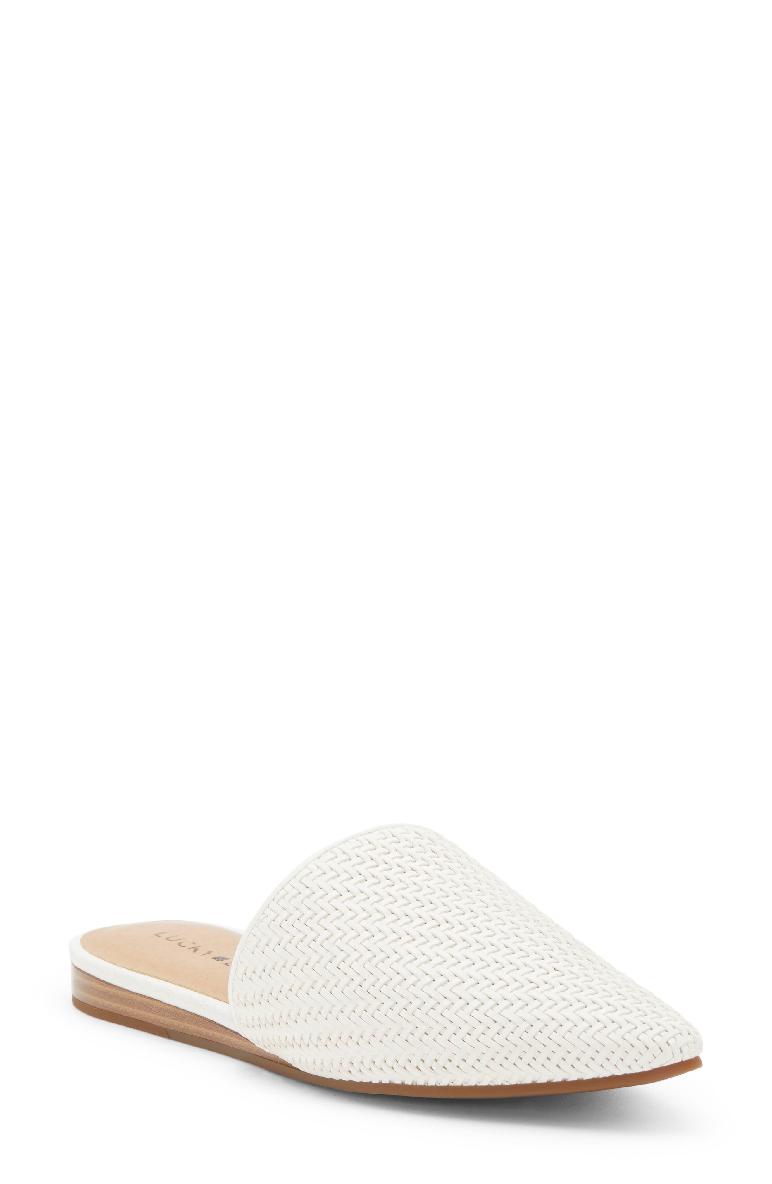 Lucky Brand Bradell Pointy Toe Mule- White