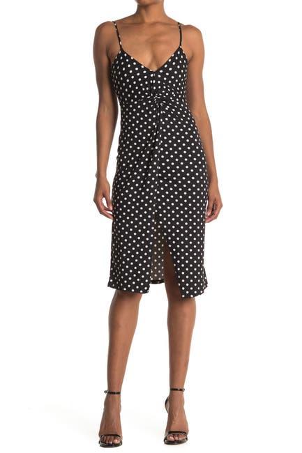 Image of Velvet Torch Printed Front Twist Sleeveless Dress