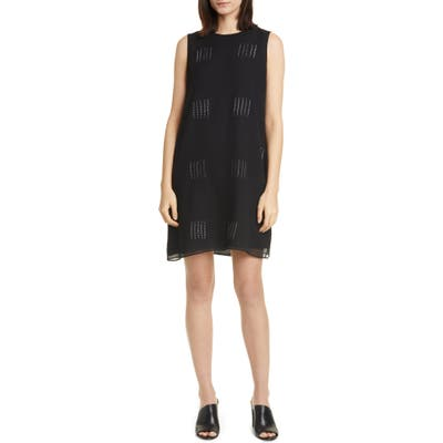 Eileen Fisher Hand Dyed Silk Shift Dress, Black