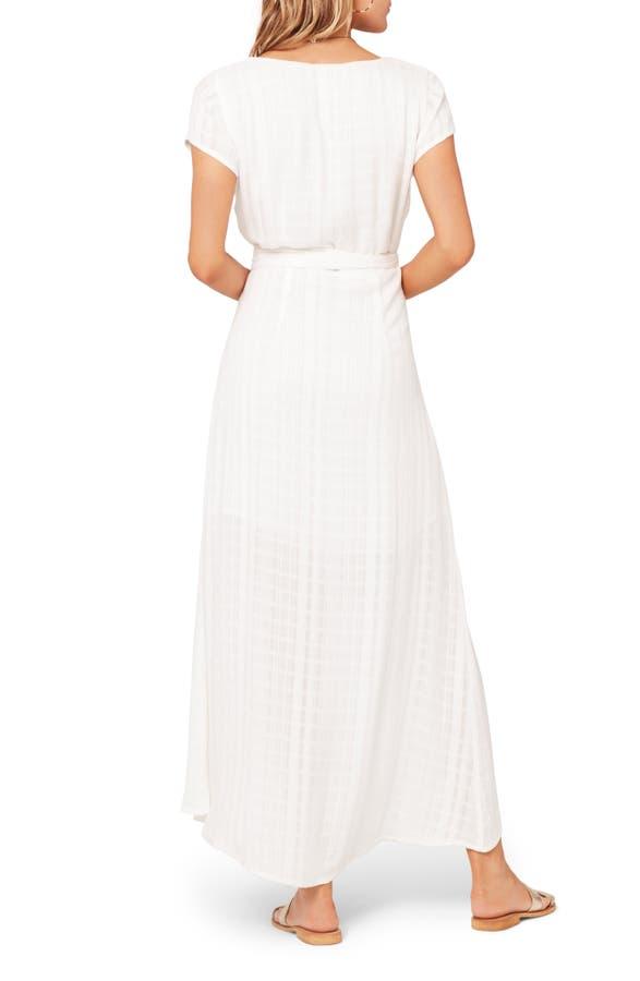 722161ba56 L*Space Goa Cover-Up Maxi Wrap Dress In White | ModeSens