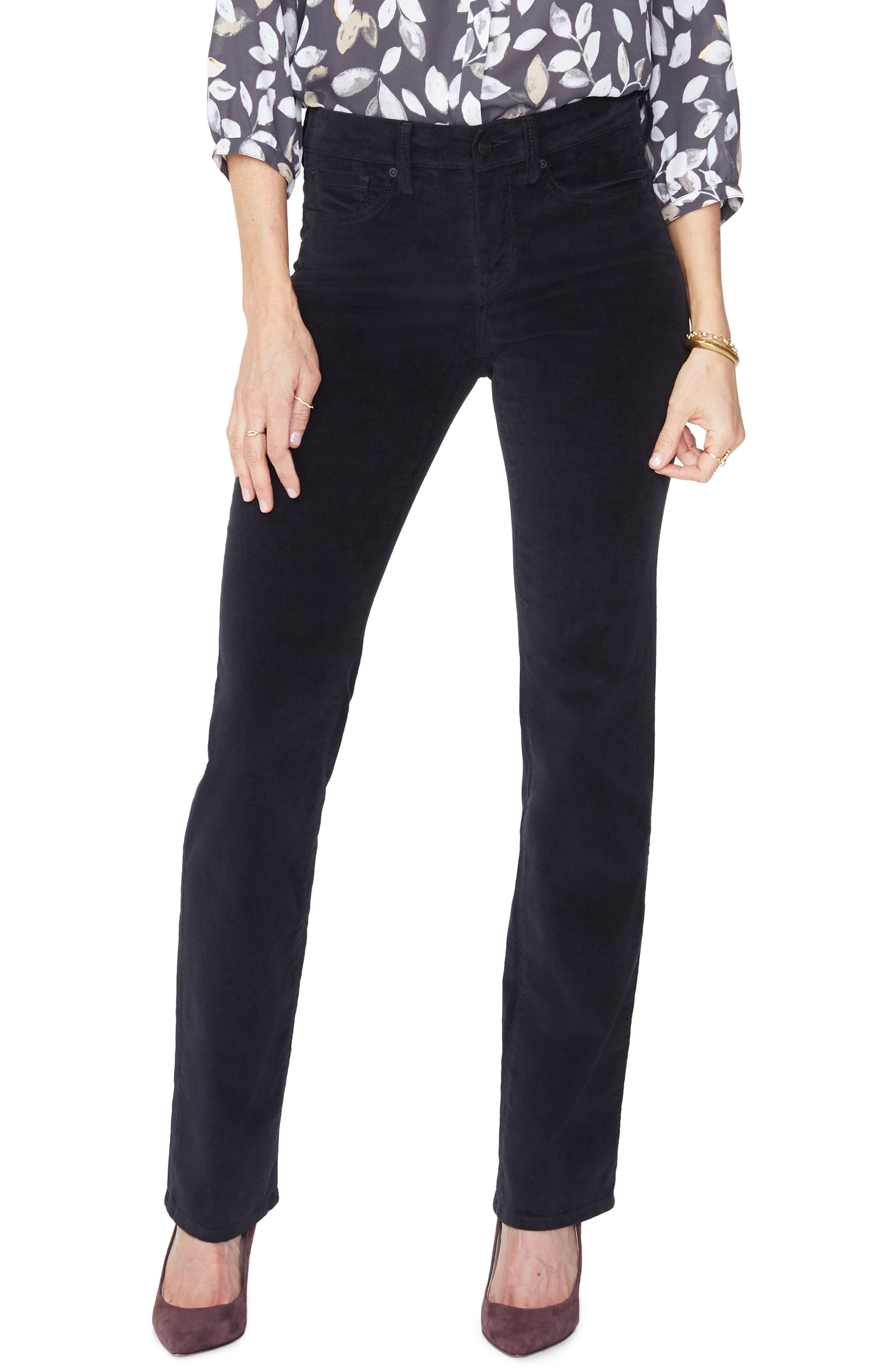 Women's NYDJ Marilyn Straight Leg Velveteen Pants