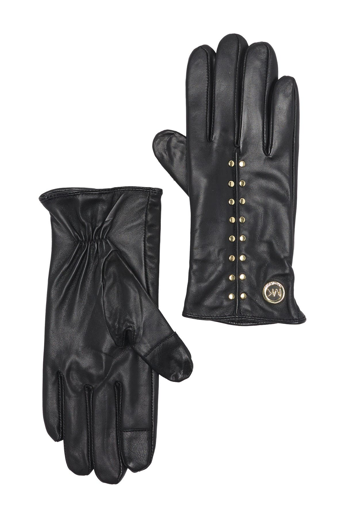 Image of Michael Kors Astor Stud Leather Gloves