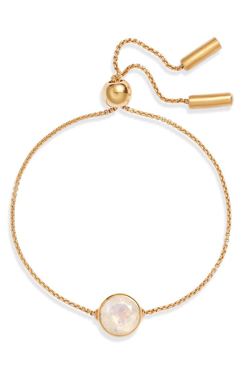 DEAN DAVIDSON Signature Chain Bracelet, Main, color, MOONSTONE/ GOLD