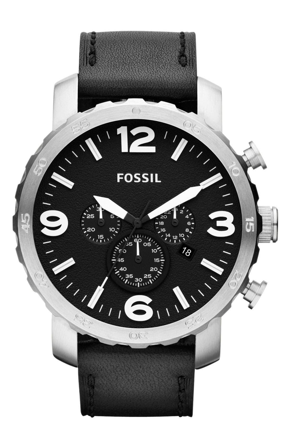 ,                             'Nate IP' Chronograph Watch, 50mm,                             Main thumbnail 7, color,                             002