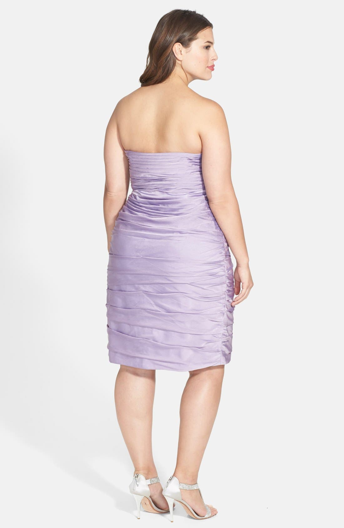 ,                             Ruched Strapless Cationic Chiffon Dress,                             Alternate thumbnail 59, color,                             533