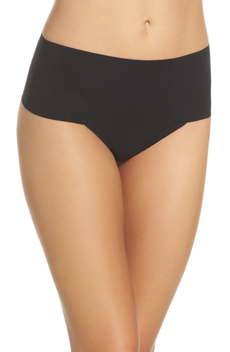 SPANX<SUP>®</SUP> Undie-tectable Thong, Main, color, VERY BLACK