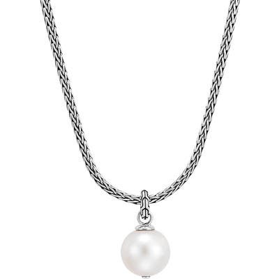 John Hardy Classic Chain Pearl Pendant Necklace