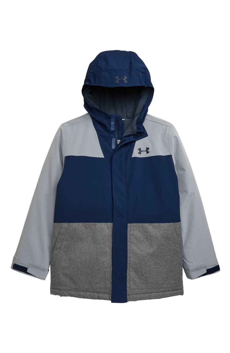 UNDER ARMOUR Slate Quarry ColdGear<sup>®</sup> Waterproof Insulated Hooded Jacket, Main, color, ASH GRAY
