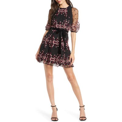 Foxiedox Ziva Floral Embroidered Minidress