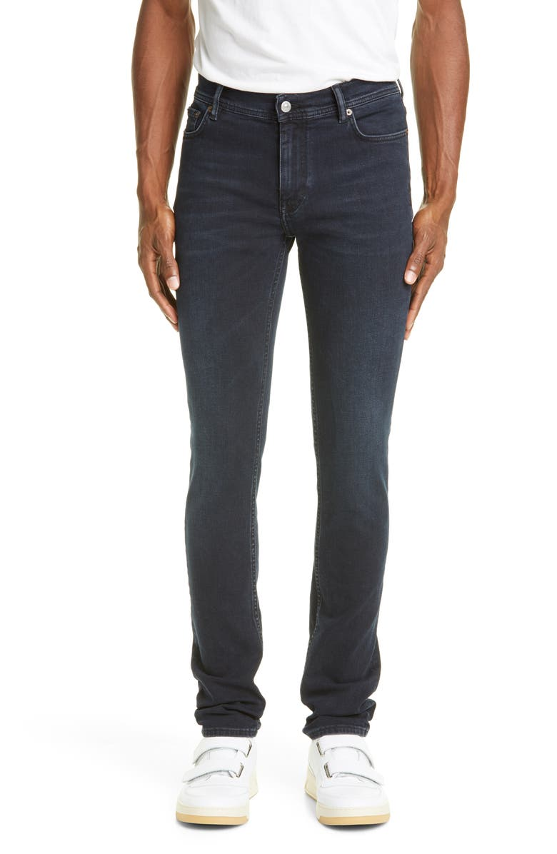 ACNE STUDIOS North Slim Fit Jeans, Main, color, BLACK