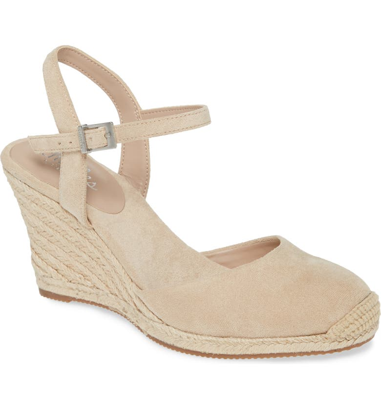 CHARLES BY CHARLES DAVID Wedge Espadrille Sandal, Main, color, NUDE