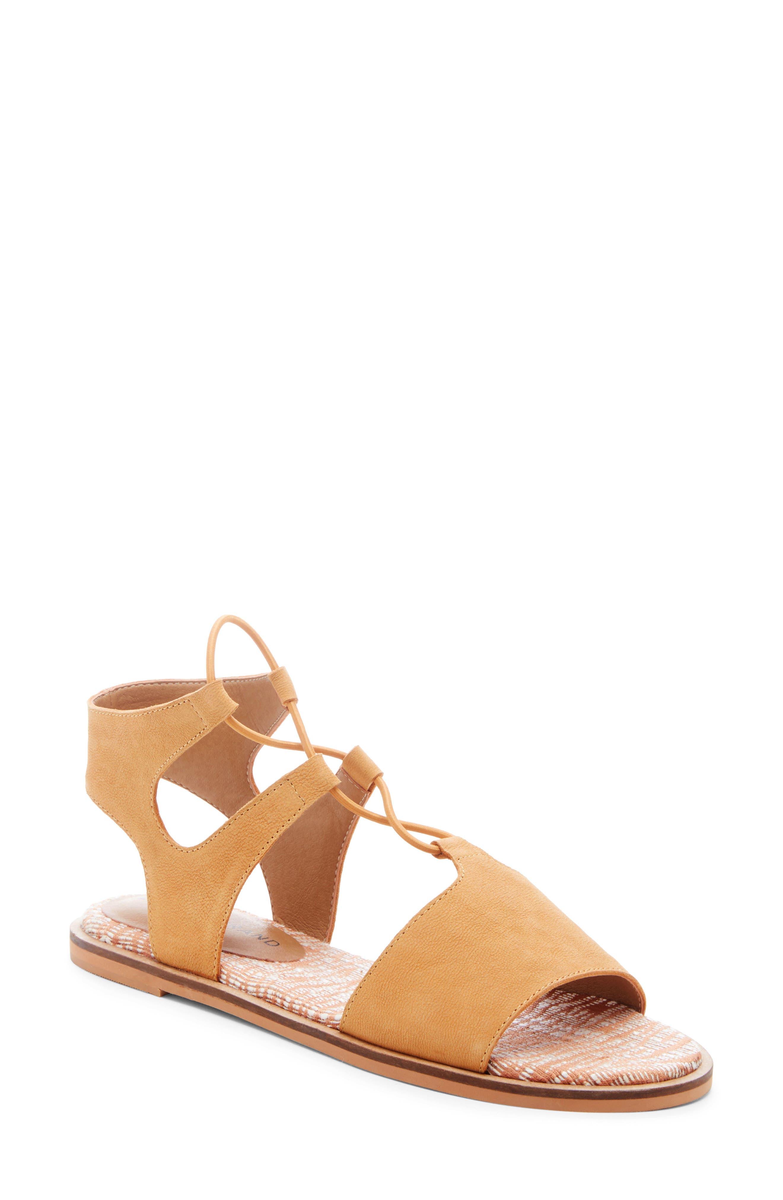 Lucky Brand Feray Gladiator Sandal- Brown
