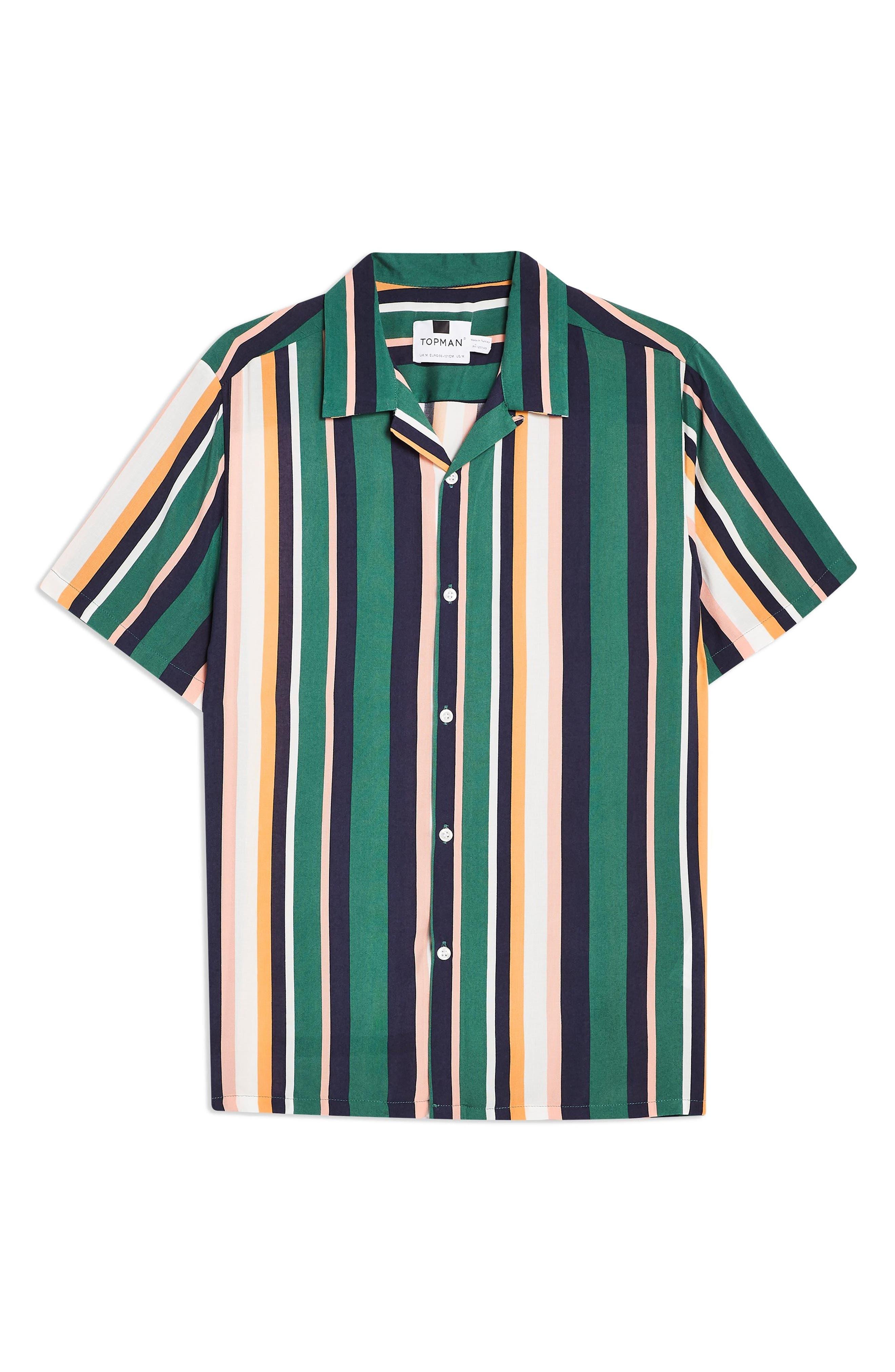 ,                             Stripe Camp Shirt,                             Alternate thumbnail 3, color,                             340